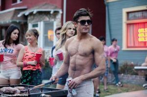 Gratuitous topless Zac Effron picture.  Source: dailymail.co.uk
